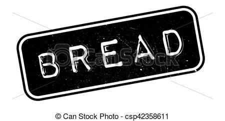 Vector Clip Art of Bread rubber stamp. Grunge design with dust.
