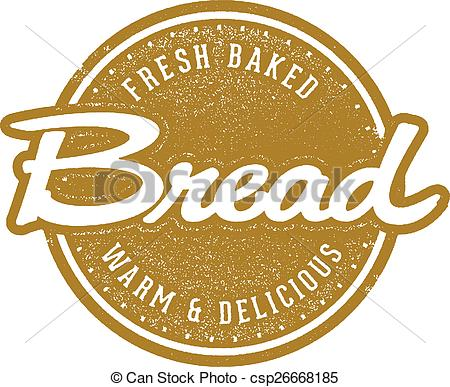 Vector of Fresh Baked Bread Stamp.