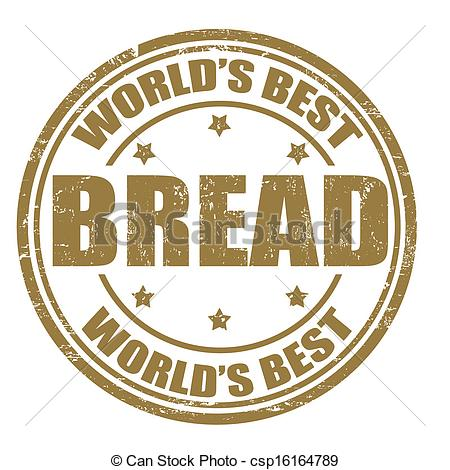 Vector of Bread stamp.