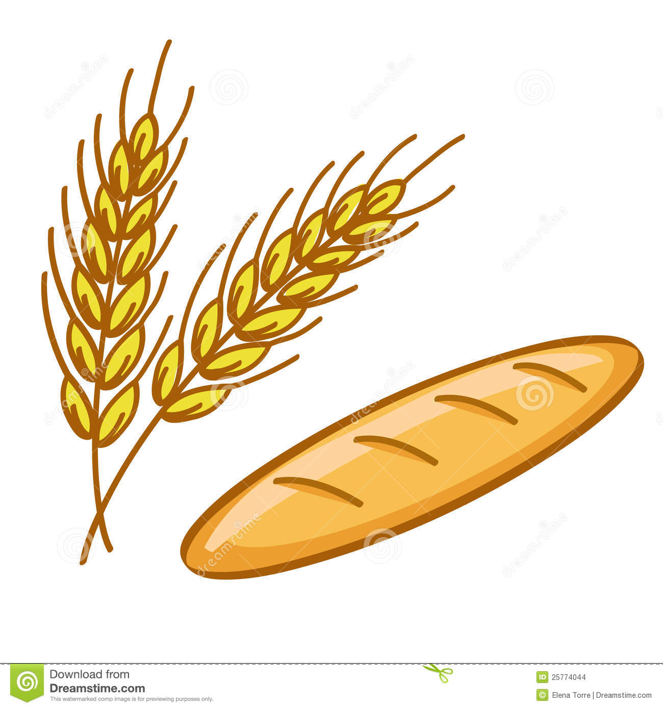 Bread And Wheat Stock Images.