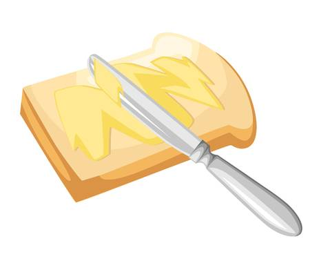 609 Toasted Bread With Butter Stock Vector Illustration And Royalty.