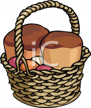 Bread Basket Clipart Black And White.