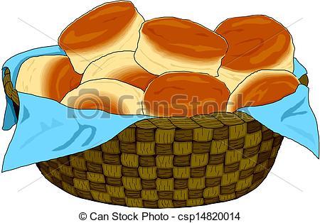 Vector Clip Art of Bread Basket.