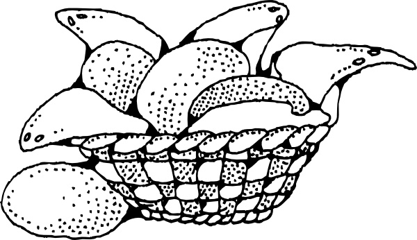 Bread Basket clip art Free vector in Open office drawing svg.
