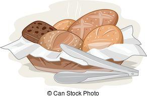 Bread basket Clip Art Vector Graphics. 877 Bread basket EPS.