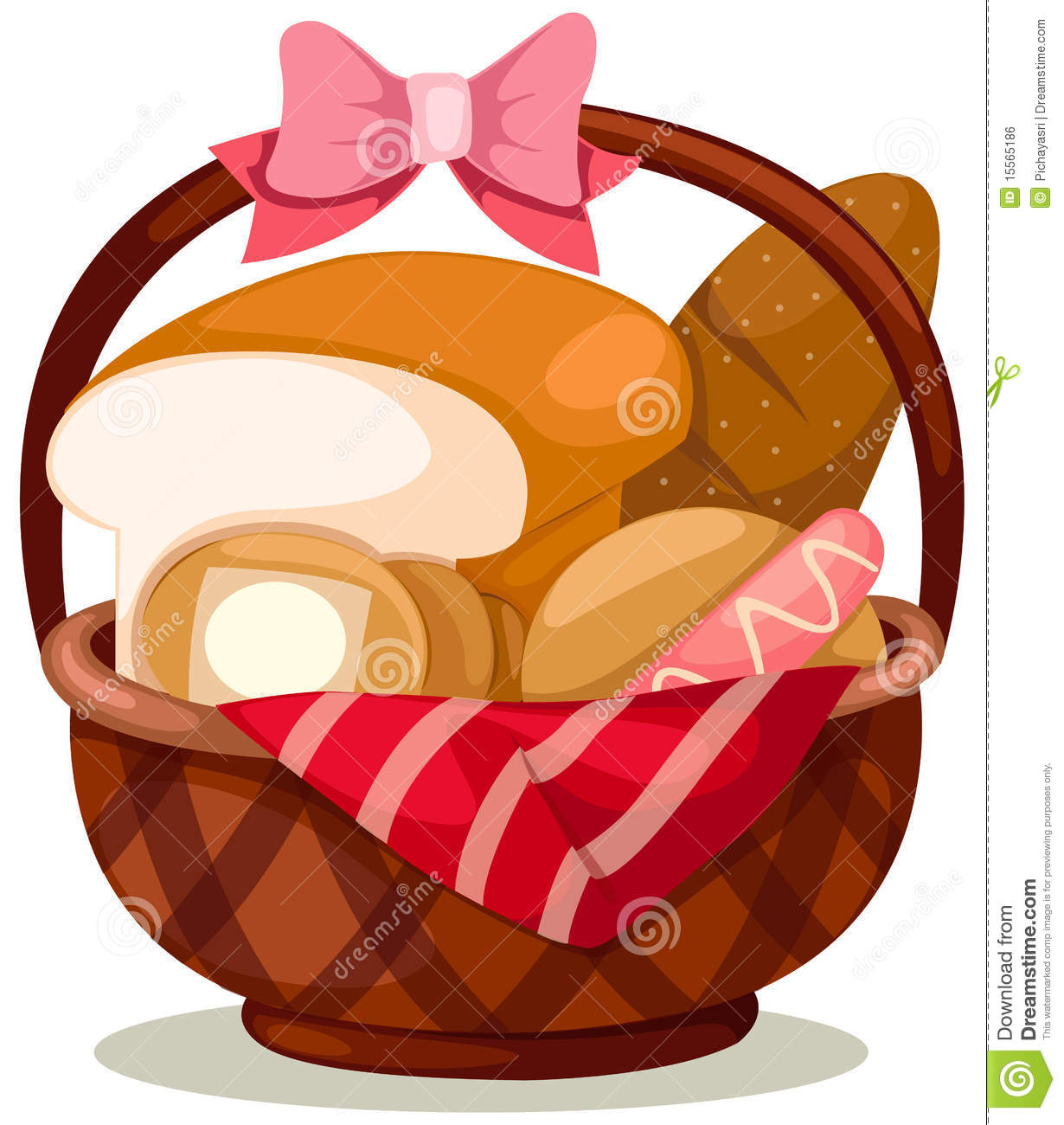 Bread Basket Clipart.