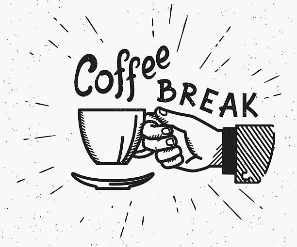 Best Coffee Break Illustrations, Royalty.