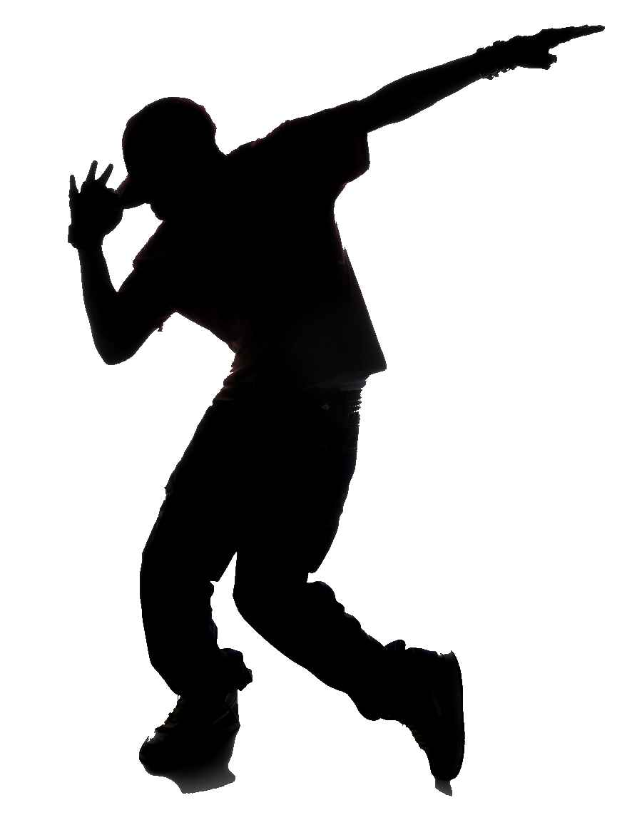 Break Dance Silhouette.