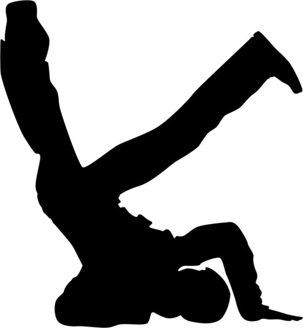 Stencil Ease Headstand Break Dance Stencil 02.