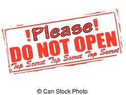 Do Not Open Clipart.