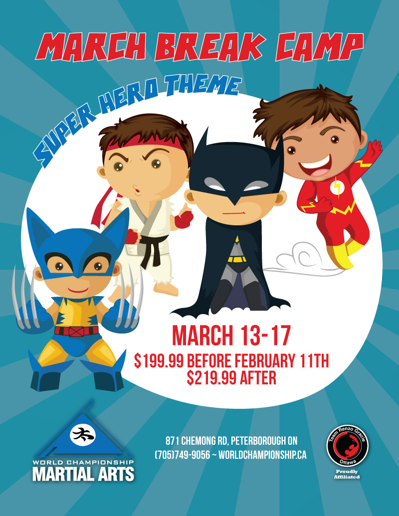 Super Hero PA Day & March Break Camp.