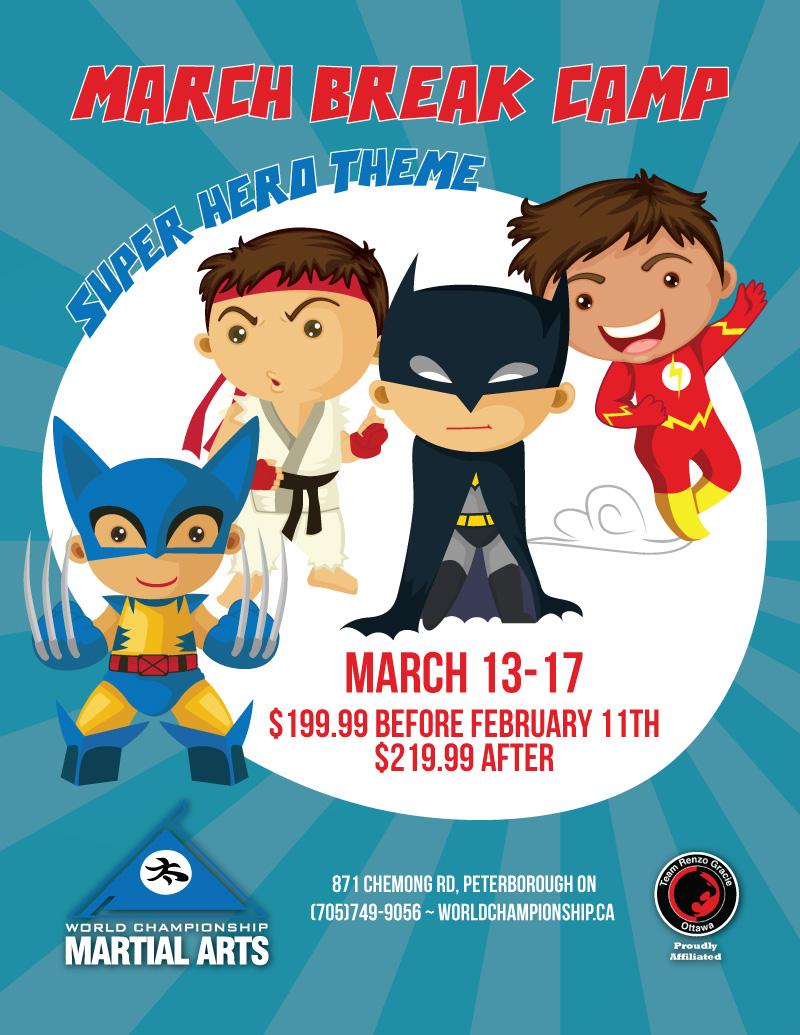 Super Hero PA Day & March Break Camp.