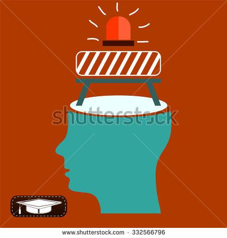 Repair Work In Open Head. The Brain Is Not Working, Take A Break.