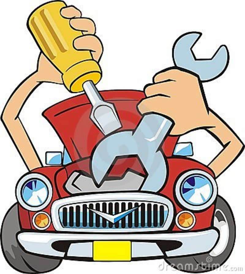 Maintenance vehicle clipart #1