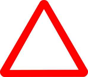 Red Triangle Clipart.