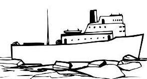Free Ice Breaker Ship Clipart.
