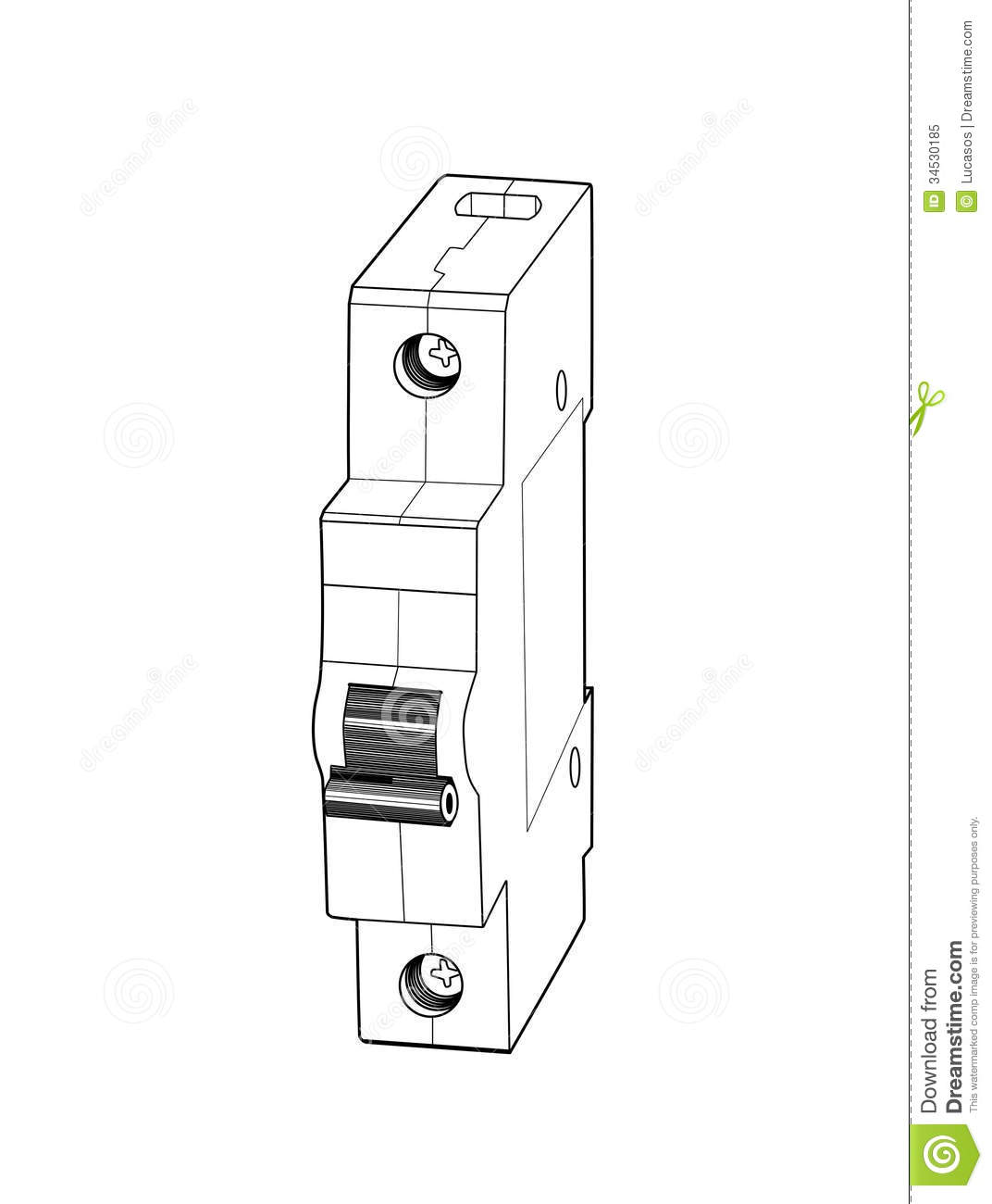 Circuit Breaker. Royalty Free Stock Photo.
