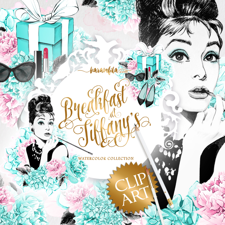 Breakfast at Tiffanys Clipart.