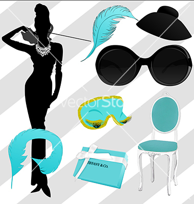 Breakfast at Tiffany's Holly Golightly Clipart.