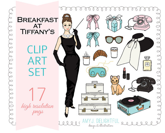 Breakfast At Tiffany's Clip Art (91+ images in Collection) Page 1.