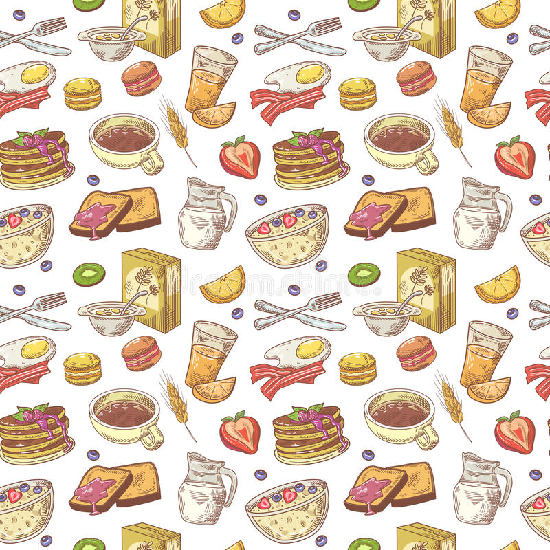 Breakfast Healthy Stock Illustrations.
