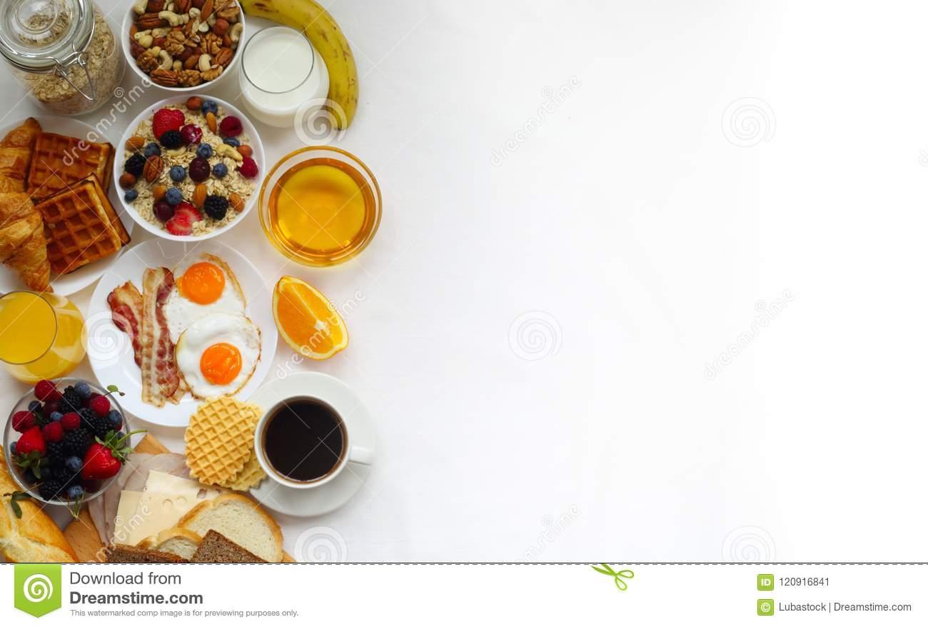 Healthy Breakfast Background Stock Image.