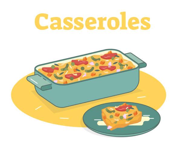 Best Casserole Illustrations, Royalty.