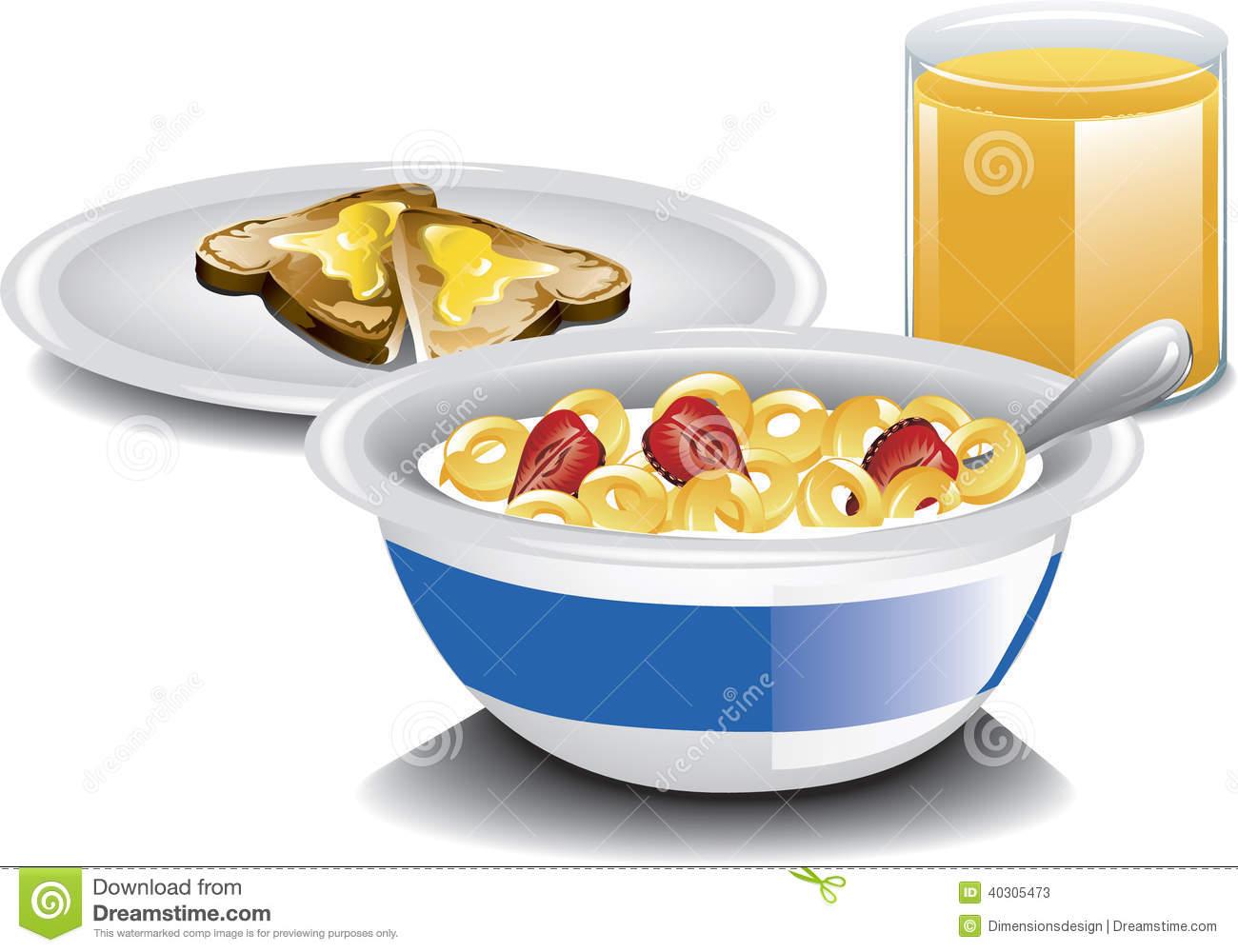 Complete Breakfast Stock Vector.