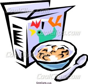 Breakfast cereal Vector Clip art.