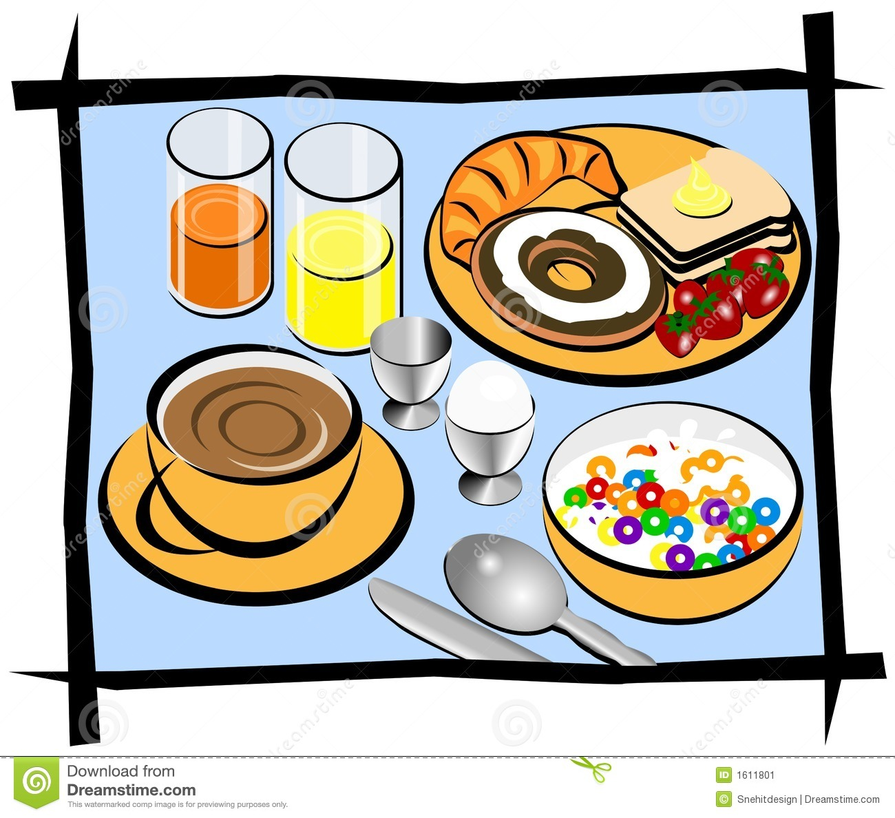 Eating Breakfast Clipart.