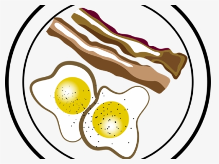 Free Breakfast Black And White Clip Art with No Background.