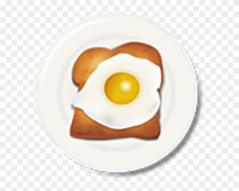 Egg Toast Breakfast Image.