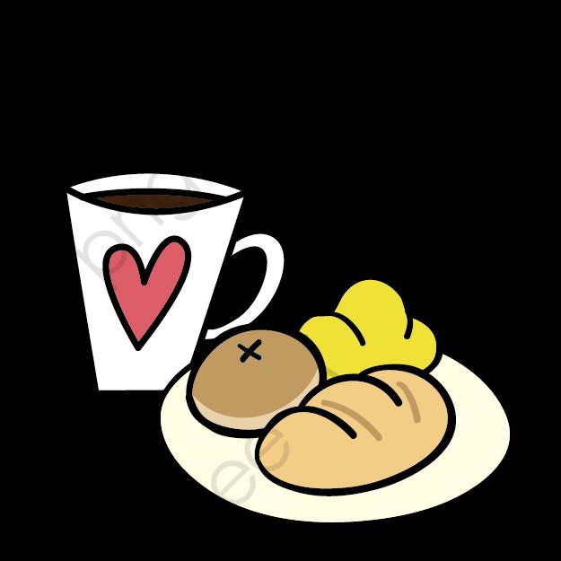 Cartoon Cute Breakfast, Cartoon Clipart, Cute Clipart, Breakfast.
