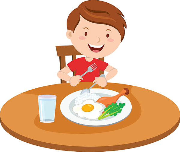 Eating Kid Breakfast Clipart Free Images At Vector Png.