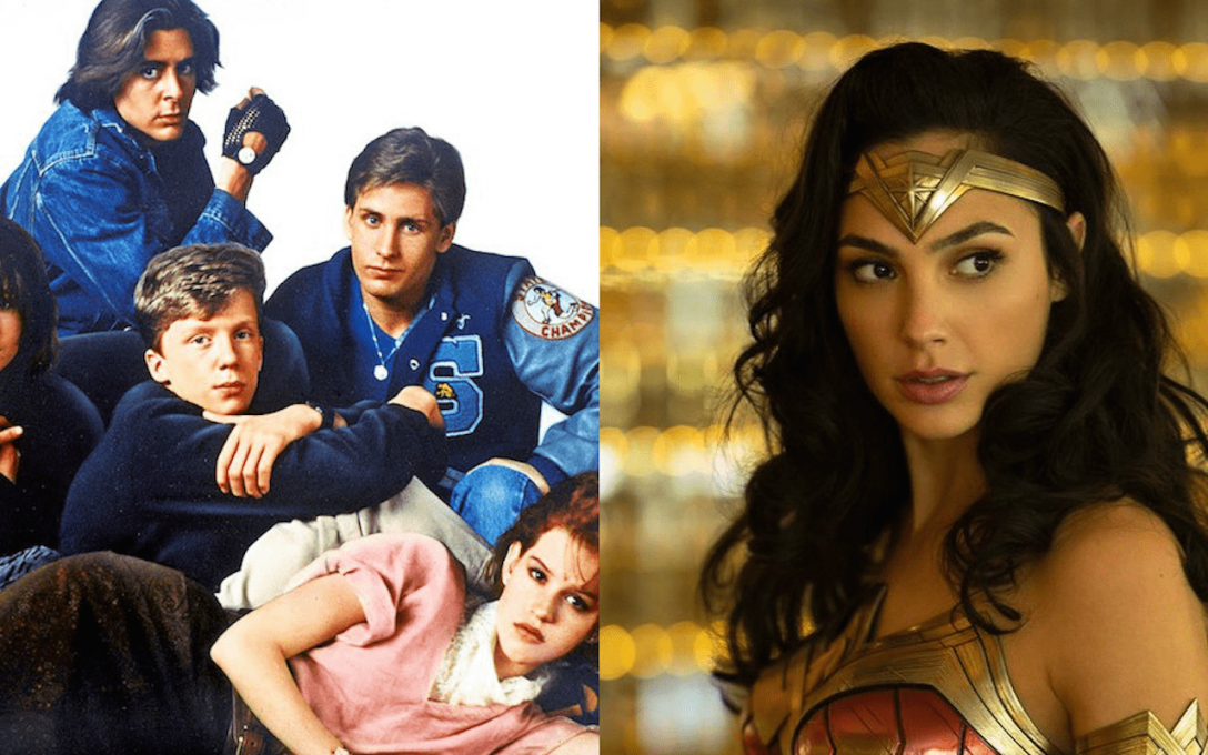 WONDER WOMAN 1984 Cast Photo Pays Homage to THE BREAKFAST CLUB.