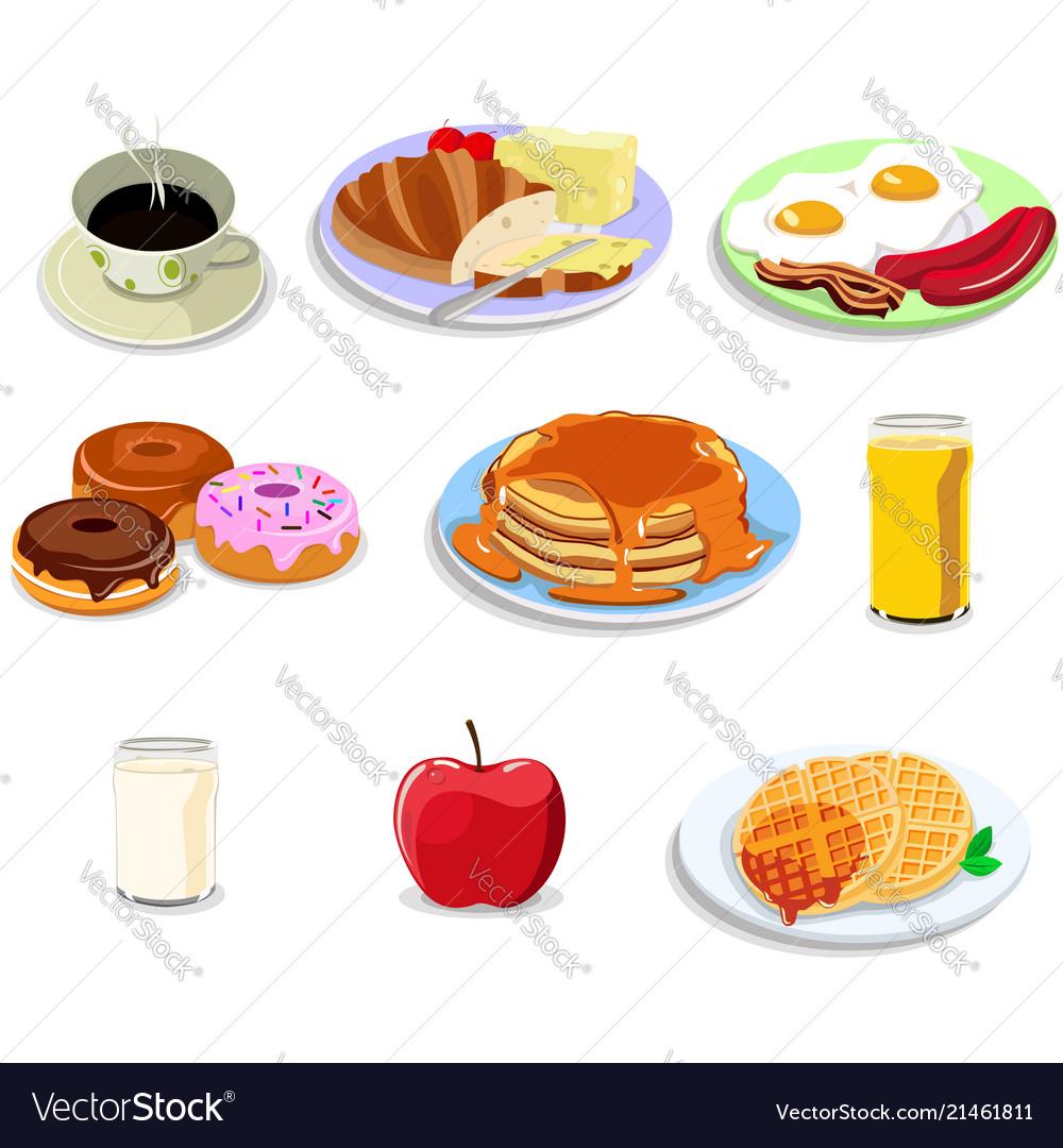 Breakfast food icons.