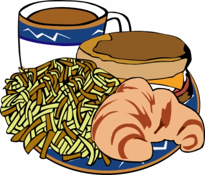 eating breakfast , Free clipart download.