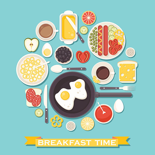 Best Breakfast Illustrations, Royalty.