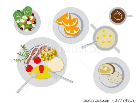 Breakfast clip art. Omelette. food..