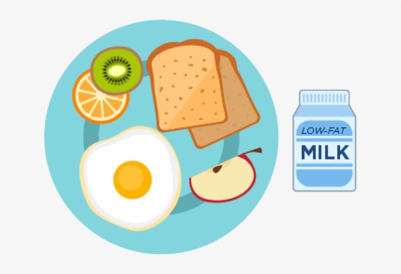 Healthy Breakfast Plate Clipart.