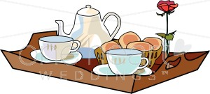 Breakfast in Bed Clipart.