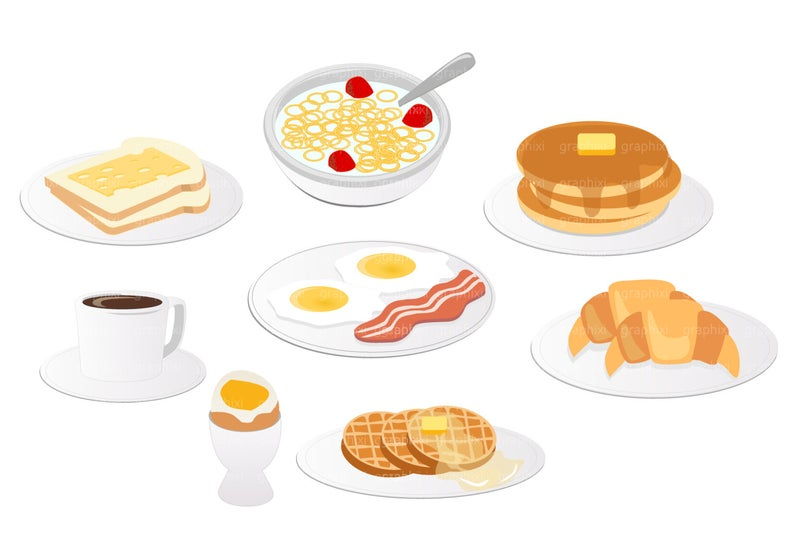 Breakfast Clipart, Vector Breakfast, Meal, Clipart Pancake, Commercial Use,  Breakfast Digital Image, Illustration, DIGITAL CLIPART.