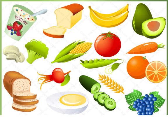 Free Nutritious Food Clipart Healthy Breakfast Meal.