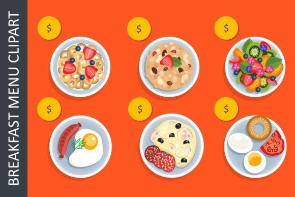 Breakfast Menu Clipart.