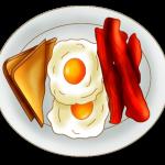 Plate Breakfast Clipart.