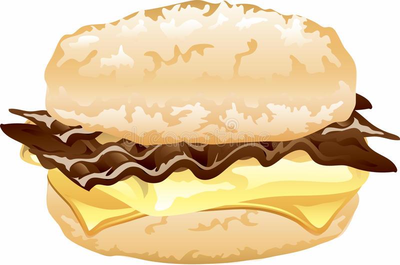 Breakfast Sandwich Stock Illustrations.