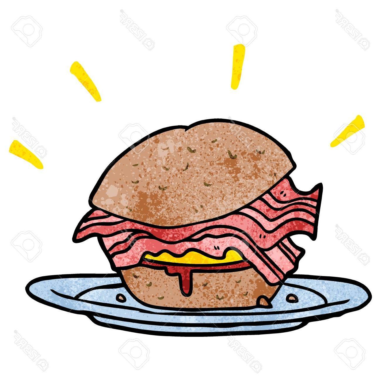 HD Breakfast Sandwich Vector Library » Free Vector Art, Images.