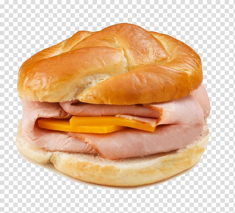 Hamburger Ham and cheese sandwich Breakfast sandwich Pretzel, Bacon.