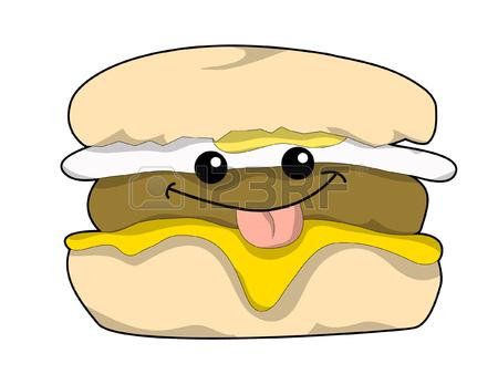 Breakfast Sandwich Clipart.