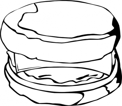 Sausage biscuit clipart.